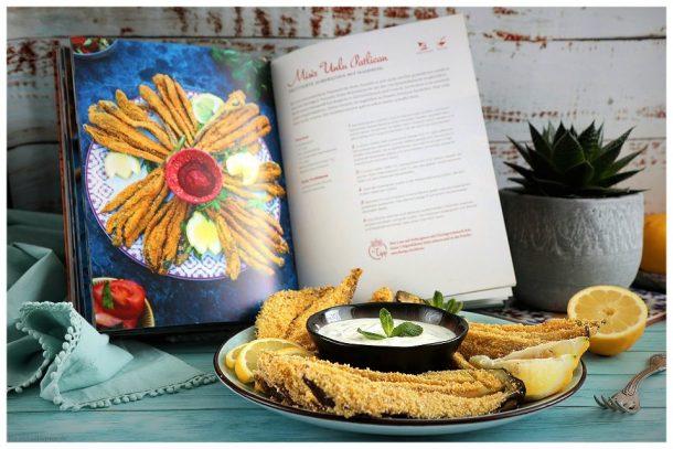 Frittierte Auberginen mit Maismehl Misir Unlu Patlicam - aus dem Buch Orient trifft vegan