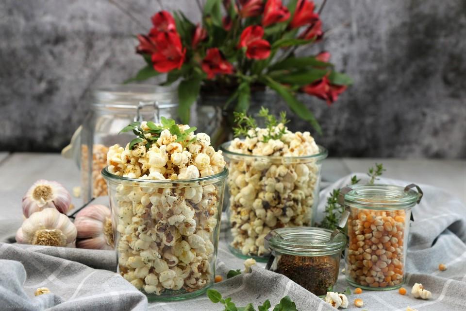 Rezept für Mediterranes Popcorn / vegan / italienische & französische Art