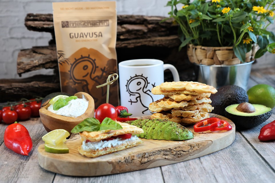 vegane Kräuterwaffeln - veganes Frühstück