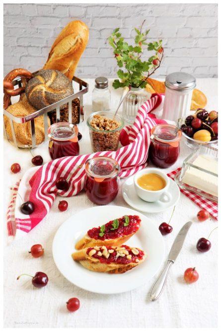 Kirsch-Stachelbeer-Marmelade