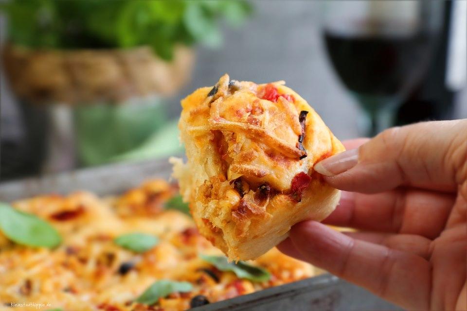 vegane Pizzaschnecken - veganes Fingerfood - Fingerfood - italienisch - vegan - Pizza