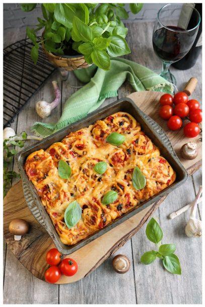 vegane Pizzaschnecken - veganes Fingerfood